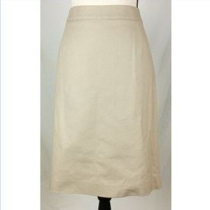 Pendleton Khaki/Tan Pencil Skirt 16 Knee Length